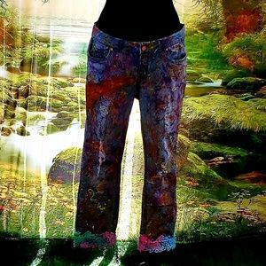 Custom Order GODDESS Splatter Paint Graffiti Jeans
